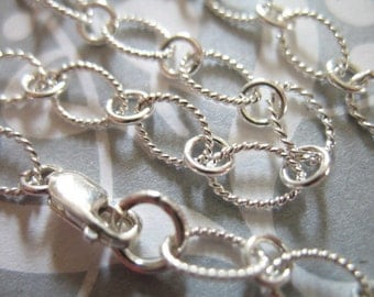 """Sterling Silver Charm Bracelets Chain, FINISHED, 3 pcs bulk, 7.5x5 mm, 7"""" inches in, THICK Heavy, 18 ga gauge,   done.. b17..hp.."""