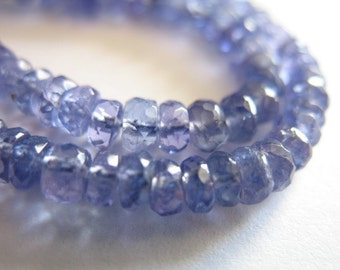 Shop Sale. 10-50 pcs, Tanzanite Rondelles Beads, Luxe AAA, 2.5-3 mm, Faceted, Periwinkle Blue, bridal december birthstone  wholesale 23