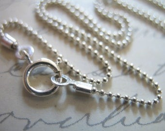 Shop Sale - 16 18 20 24 inch, 1 mm BALL CHAIN, Sterling Silver Chain, Finished Necklace Chain, wholesale chain d33.t d33.20 d33.24 done hp
