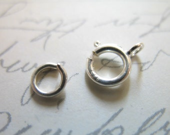Sterling Silver Spring Ring Clasp SET, Bulk, 6 mm, 925 sterling silver, to finish petite to medium chains..sale.. hp..