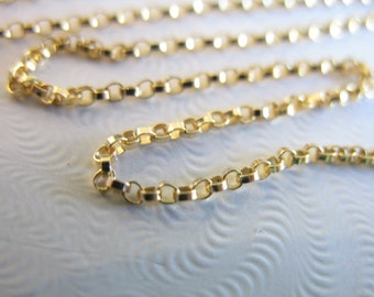 Shop Sale.. 3 feet, 14k 14kt Gold Filled Chain, 1.2 mm ROLO Chain, 10-25% Less Bulk, strong delicate, unfinished wholesale chain sgf.. SGF2
