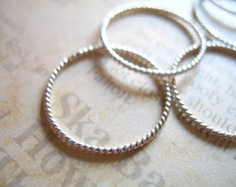 2 5 10 pcs, 20 mm, Sterling Silver Circle Jump Rings Charm Pendant Links Connectors, Twisted, Closed, 18 g gauge ga, SJR20mm hp solo tjr20 s