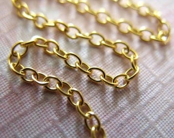 Shop Sale.. Wholesale Unfinished Chain, 14k 14kt Gold Fill Chain, by the foot, Rounded Cable Chain Bulk Price, 2.5x2 mm, medium, SSGF. SGF5
