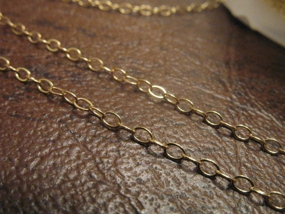 6 ft, 2x1.5 mm, 14kt Gold Filled Chain, flat cable...