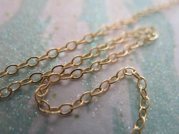 Shop Sale.. 20 feet, WHOLESALE 14k 14kt Gold Fill Chain, 2x1.4 mm, Flat Cable Chain, Oval Links, 15-25% Less Bulk Price tgc ssgf. sgf1