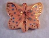 Peach Butterfly Focal Button
