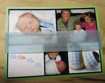 Birth Announcement With Sleeve