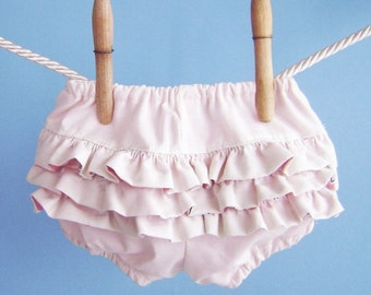 Pink Ruffle Diaper Covers Bloomers - Baby Girl