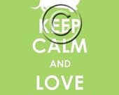Keep Calm and Love Doxies archival Print