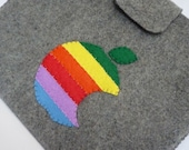 Ipad Case of Apple Rainbow Logo