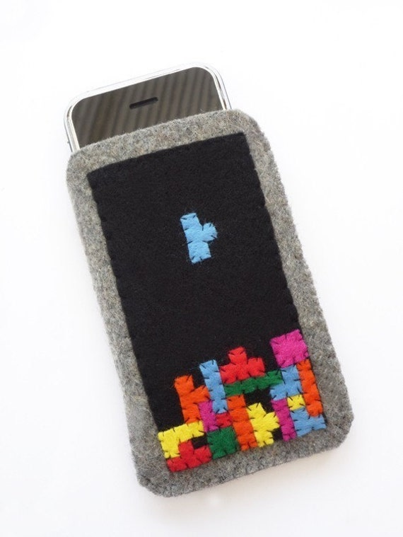 Tetris iPod iPhone Case Pouch Cozy