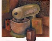 Kitchen Mixer - Original Acrylic Painting
