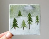 tiny forest 2 / original painting on canvas