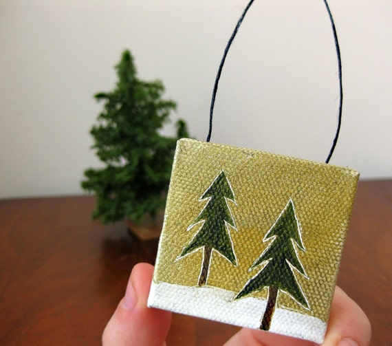 tiny forest / christmas ornament