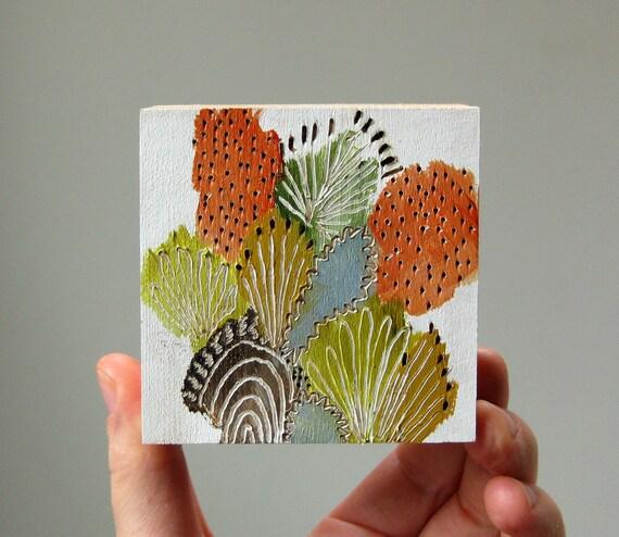 wildflowers no. 8 / original painting on reclaimed wood
