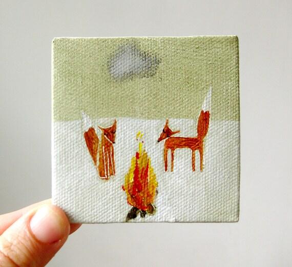 firelight / original painting on canvas