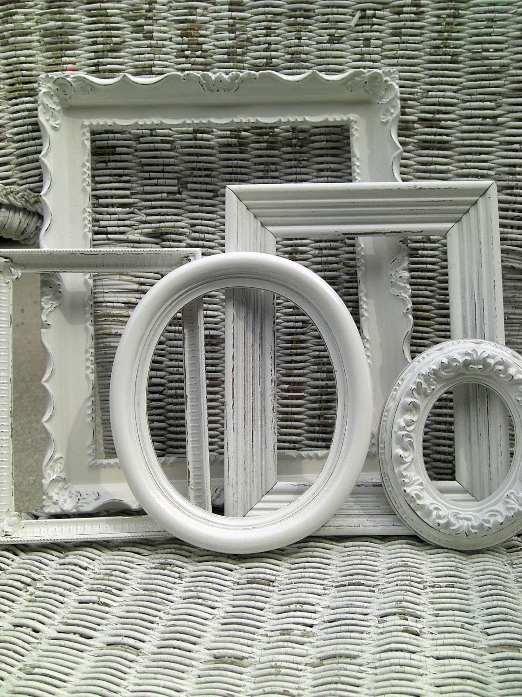 gorgeous antique white frames zoom