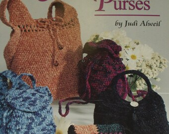 American School of Needlework Crochet Book 1230,Chenille Purses,Judy Alweil
