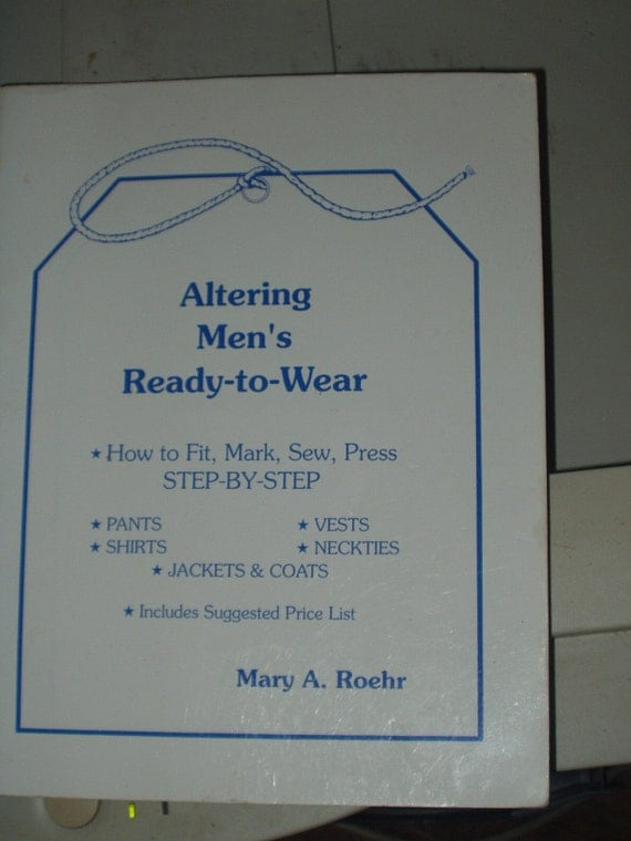 sewing book Altering Men's Ready to Wear by Mary A. Roehr