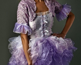 Marie Antoinette Fantasy purple and white  mini tutu dress to be custome made