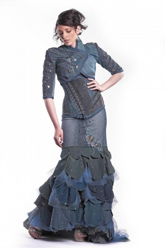 DENIM COUTURE DRESS