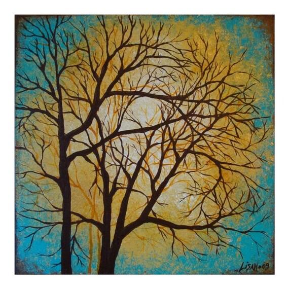 Turquoise Trees. 10x10 art print