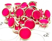 24 Hot Pink Cowgirl Snaps Pearl Prong Western Snaps