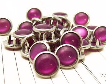 48 Berry Cowgirl Snaps Pearl Prong Western Snaps