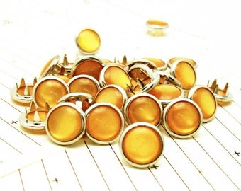 24 Gold Cowgirl Snaps Pearl Prong Western Snaps