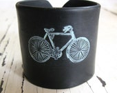Weekend SALE Black Bicycle Cuff bracelet, Handmade Jewelry by theshagbag on Etsy