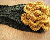 Head Wrap Green and Gold Green Bay Packers flower headwrap.