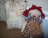 ReserVed For CheryL  PriMiTiVe RaGGeDy AnN PiLLoW StiTchErY PiLLow CounTry FoLkarT OFG TeAm,  WheRe RuStiCS ReigN