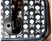Black and White Skulls Wall Decor Hook