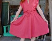 Vintage Melon 70s Dress