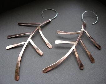 Lg Fern Earrings in Copper - E260 or Bronze - E261