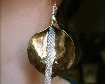 Medium Waterfall Lily Earrings in Copper - E500 or Bronze - E501
