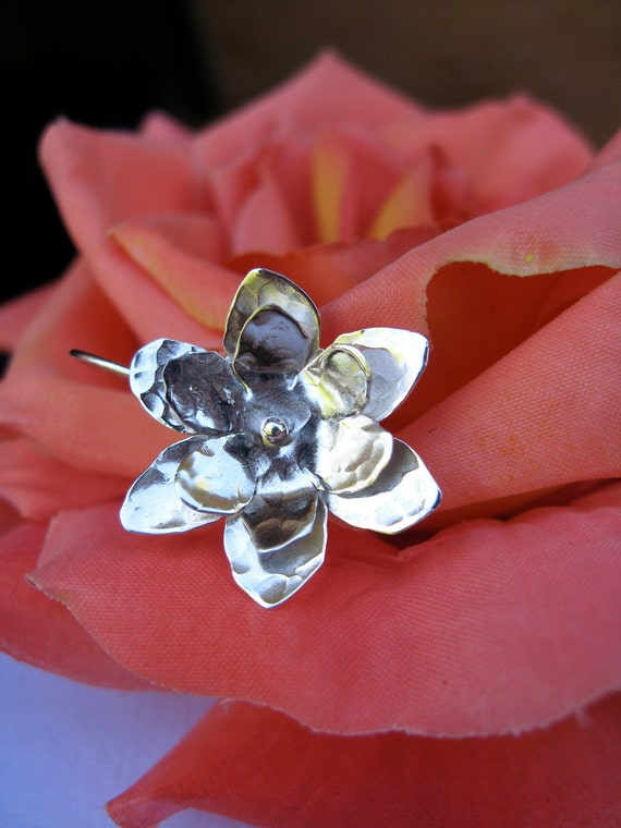 Mini Hanging Lotus in copper, bronze or sterling