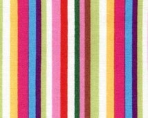 Rainbow Zoo Stripe in Multi by Red Rooster - 1 Yard