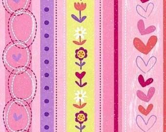 Little Girls Stripe in Multi by Me-O-My for Spectrix - 1 Yard