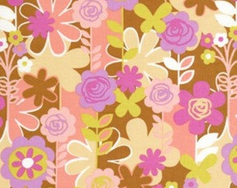 Weekends Garden Walk in Brown by Erin McMorris for Free Spirit - 1 Yard