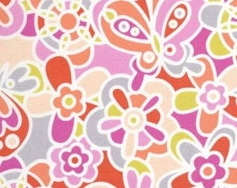 Weekends Kaleidoscope in Pink by Erin McMorris for Free Spirit - 1 Yard