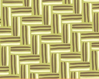 Sale Spa Basket Weave in Green by Rosemarie Lavin for Windham Fabrics - 1 Yard