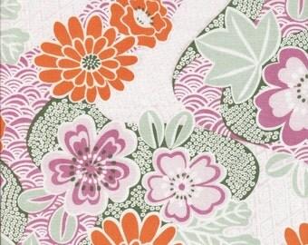 Sale Soleil Floral Garden in Rose by Annette Tatum for Free Spirit -1 Yard