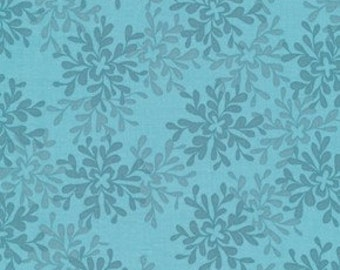 Nest Leaves in Teal by Valori Wells for Free Spirit - 1 Yard