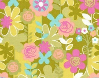 Weekends Garden Walk in Grass by Erin McMorris for Free Spirit - 1 Yard