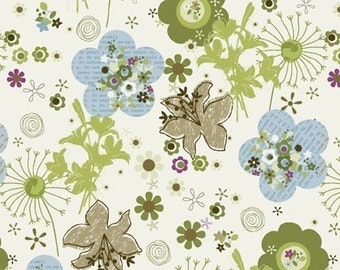 Peaceful Planet Medium Floral in Cream by Studio E - Last Yard