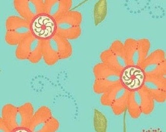 Sanibel Large Floral in Turquoise by Henry Glass - 1 Yard