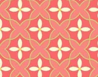 Sanibel Floral Trellis in Coral by Henry Glass - 1 yard
