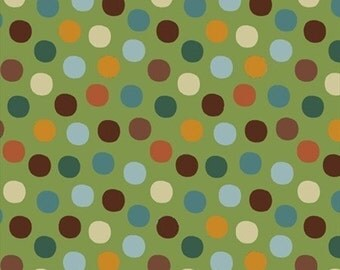 Joy Basket Candy Dots (5707) in Green by A Hoodie Design for Blank Quilting - 1 Yard