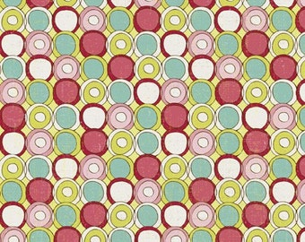 Paper Dolls Circle Dots in Green by Studio E - 1 Yard